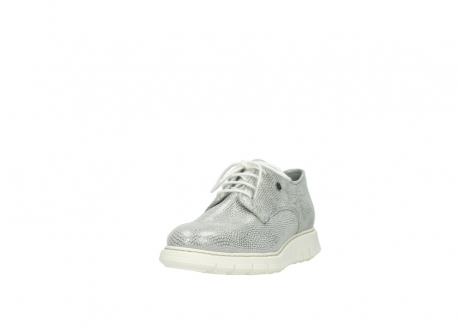 wolky lace up shoes 05025 daylight 20120 off white silver printed leather_21