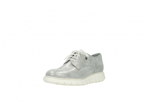 wolky lace up shoes 05025 daylight 20120 off white silver printed leather_22