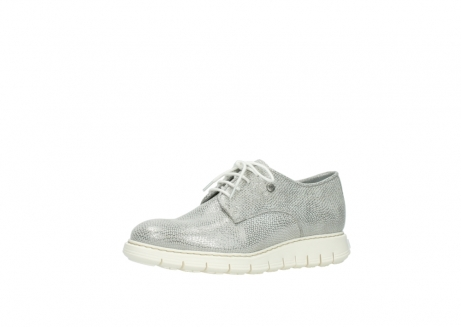 wolky lace up shoes 05025 daylight 20120 off white silver printed leather_23