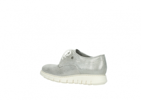 wolky lace up shoes 05025 daylight 20120 off white silver printed leather_3