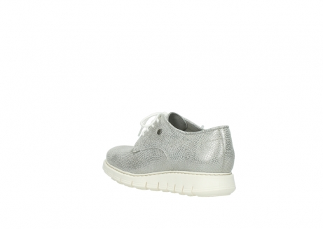 wolky lace up shoes 05025 daylight 20120 off white silver printed leather_4