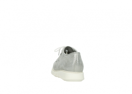 wolky lace up shoes 05025 daylight 20120 off white silver printed leather_6