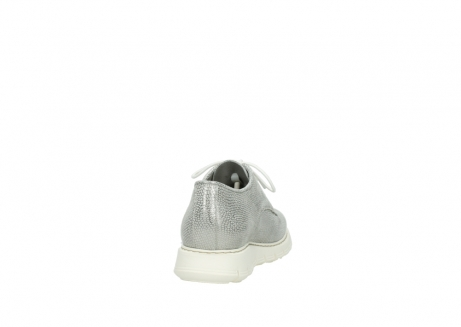 wolky lace up shoes 05025 daylight 20120 off white silver printed leather_8