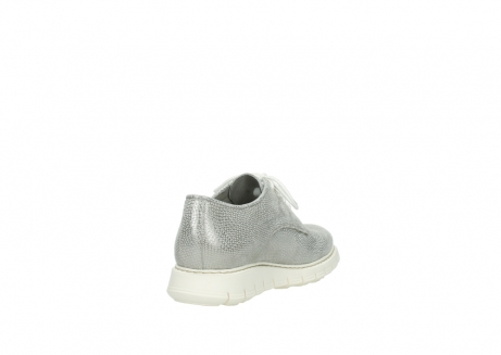 wolky lace up shoes 05025 daylight 20120 off white silver printed leather_9