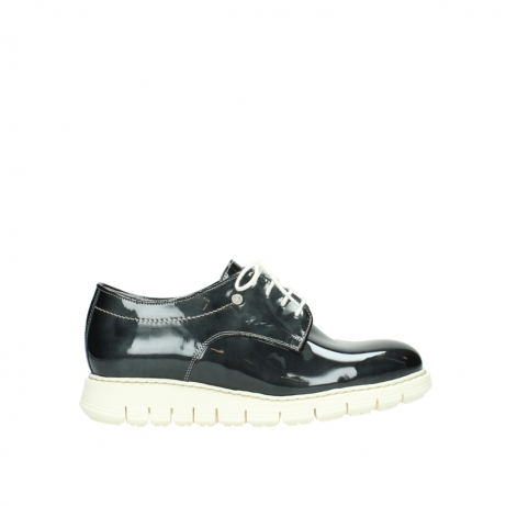 wolky lace up shoes 05025 daylight 60270 antracite patent leather
