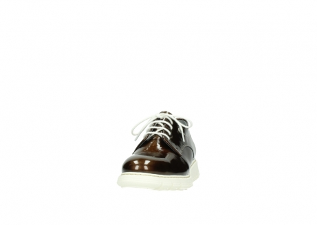 wolky lace up shoes 05025 daylight 60320 bronze patent leather_20