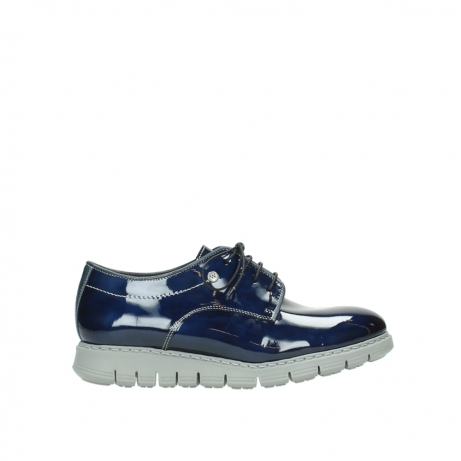 wolky chaussures a lacets 05025 daylight 60800 cuir verni bleu