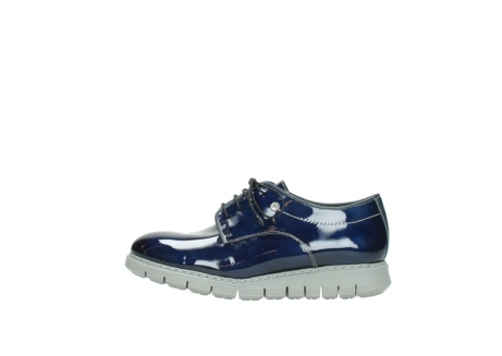 wolky chaussures a lacets 05025 daylight 60800 cuir verni bleu_1