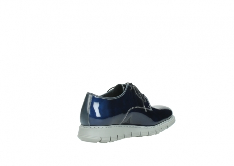 wolky chaussures a lacets 05025 daylight 60800 cuir verni bleu_10