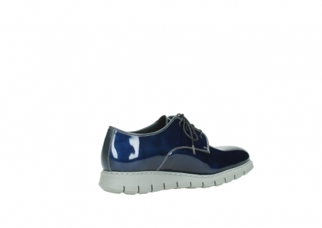 wolky chaussures a lacets 05025 daylight 60800 cuir verni bleu_11