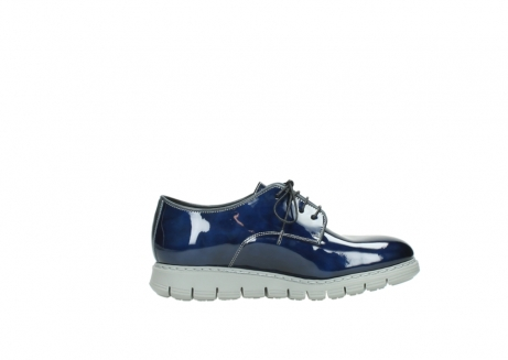 wolky chaussures a lacets 05025 daylight 60800 cuir verni bleu_13