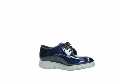 wolky chaussures a lacets 05025 daylight 60800 cuir verni bleu_15