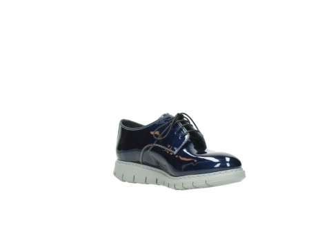 wolky chaussures a lacets 05025 daylight 60800 cuir verni bleu_16