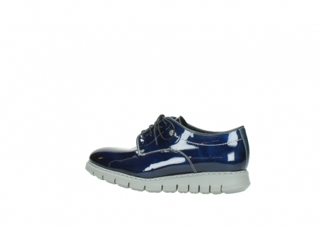 wolky chaussures a lacets 05025 daylight 60800 cuir verni bleu_2