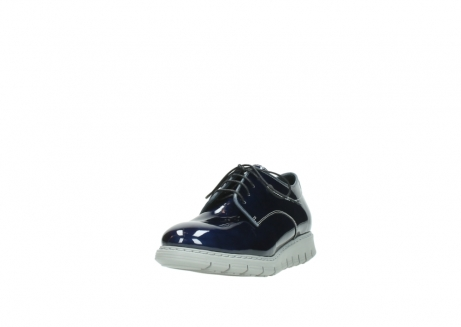 wolky chaussures a lacets 05025 daylight 60800 cuir verni bleu_21