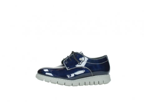 wolky chaussures a lacets 05025 daylight 60800 cuir verni bleu_24