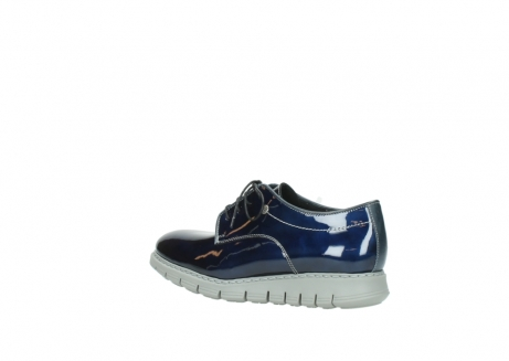 wolky chaussures a lacets 05025 daylight 60800 cuir verni bleu_3