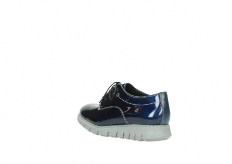 wolky chaussures a lacets 05025 daylight 60800 cuir verni bleu_4