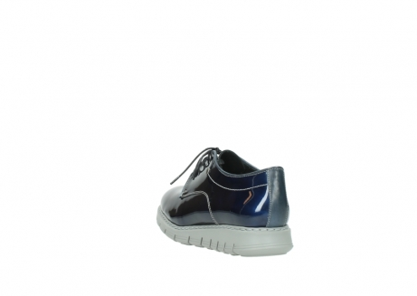 wolky chaussures a lacets 05025 daylight 60800 cuir verni bleu_5