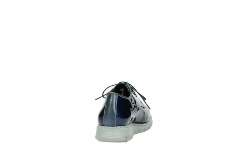 wolky chaussures a lacets 05025 daylight 60800 cuir verni bleu_8