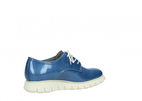 wolky lace up shoes 05025 daylight 60820 denim blue patent leather_11