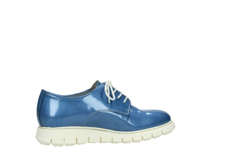 wolky lace up shoes 05025 daylight 60820 denim blue patent leather_12