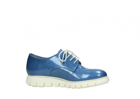 wolky lace up shoes 05025 daylight 60820 denim blue patent leather_14