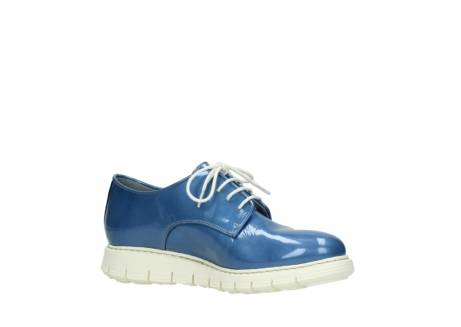 wolky lace up shoes 05025 daylight 60820 denim blue patent leather_15