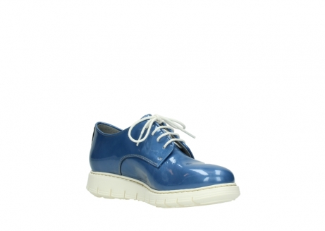 wolky lace up shoes 05025 daylight 60820 denim blue patent leather_16