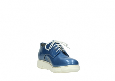 wolky lace up shoes 05025 daylight 60820 denim blue patent leather_17
