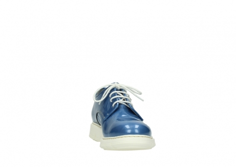 wolky lace up shoes 05025 daylight 60820 denim blue patent leather_18
