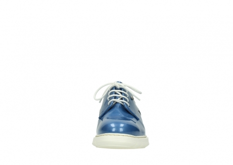 wolky lace up shoes 05025 daylight 60820 denim blue patent leather_19