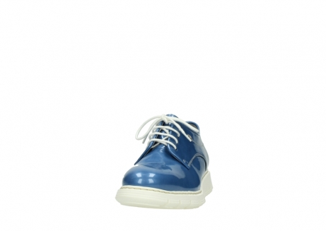 wolky lace up shoes 05025 daylight 60820 denim blue patent leather_20