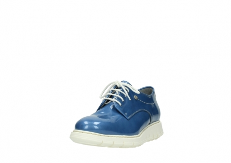 wolky lace up shoes 05025 daylight 60820 denim blue patent leather_21