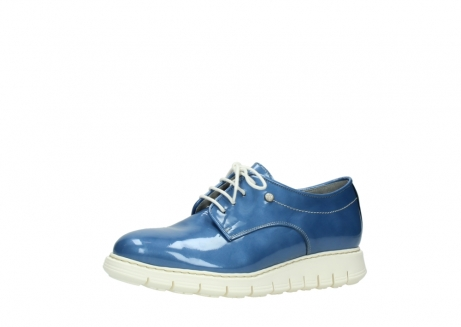 wolky lace up shoes 05025 daylight 60820 denim blue patent leather_23