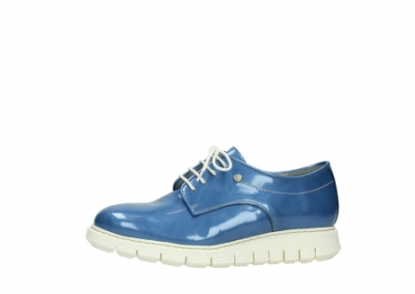 wolky lace up shoes 05025 daylight 60820 denim blue patent leather_24