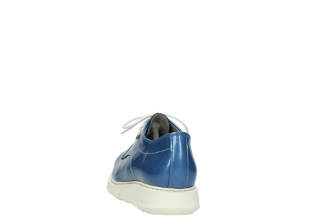 wolky lace up shoes 05025 daylight 60820 denim blue patent leather_6