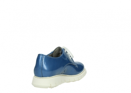 wolky lace up shoes 05025 daylight 60820 denim blue patent leather_9