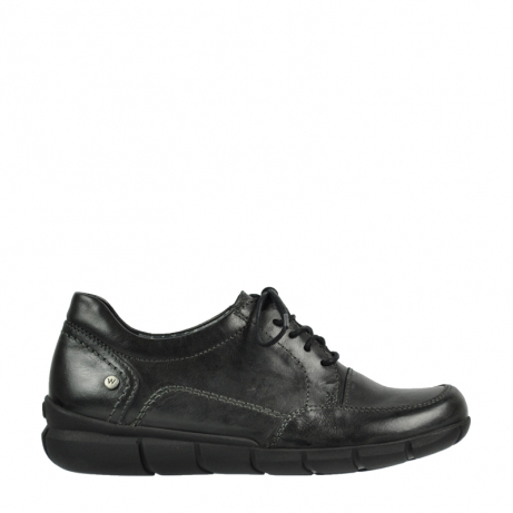 wolky lace up shoes 05310 amalfi 30000 black leather