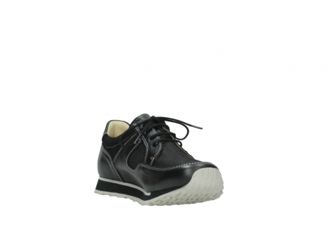 wolky lace up shoes 05800 e walk 20009 black stretch leather_17