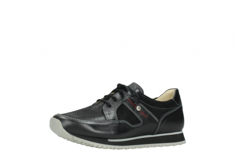 wolky lace up shoes 05800 e walk 20009 black stretch leather_23