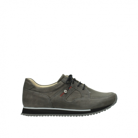 wolky chaussures a lacets 05800 e walk 20201 cuir stretch anthracite