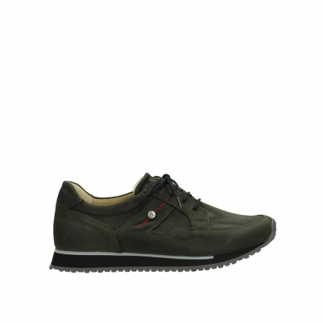 wolky veterschoenen 05800 e walk 20730 forest groen stretch leer