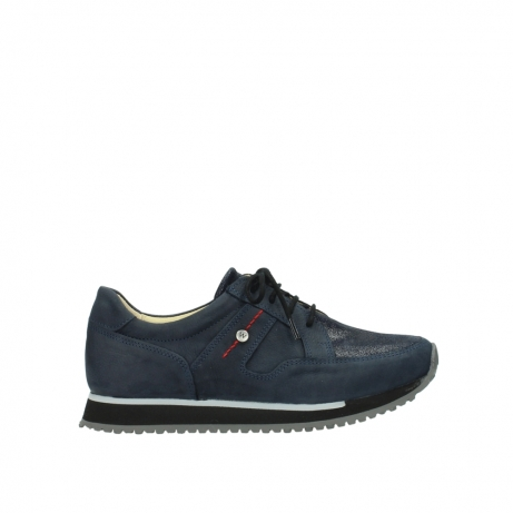 wolky veterschoenen 05800 e walk 20809 blauw stretch leer