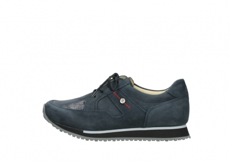 wolky chaussures a lacets 05800 e walk 20809 cuir stretch bleu_1