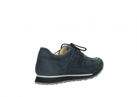 wolky chaussures a lacets 05800 e walk 20809 cuir stretch bleu_10