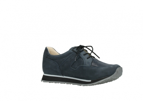 wolky chaussures a lacets 05800 e walk 20809 cuir stretch bleu_15