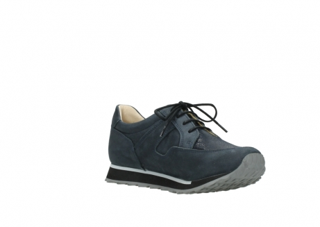 wolky chaussures a lacets 05800 e walk 20809 cuir stretch bleu_16