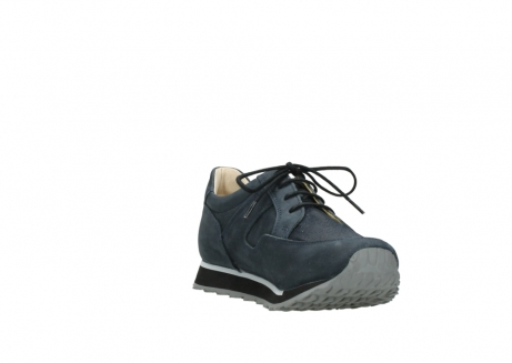 wolky chaussures a lacets 05800 e walk 20809 cuir stretch bleu_17
