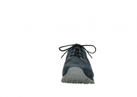 wolky chaussures a lacets 05800 e walk 20809 cuir stretch bleu_19